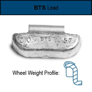 Truck Wheel Weights Bts Style Uncoated Lead 50 To 6 Ounces